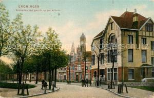 AK / Ansichtskarte Groningen Emmaplein met gezicht op der A toren Groningen