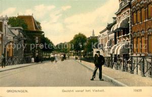 AK / Ansichtskarte Groningen Gezicht vanaf het Viaduct Groningen