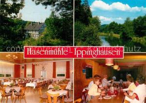 AK / Ansichtskarte Ippinghausen Gasthaus Hasenmuehle Gastraeume See Ippinghausen