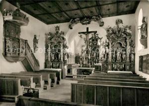AK / Ansichtskarte Thaining Wolfgangskirche Innenansicht Thaining