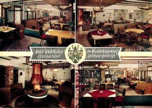 AK / Ansichtskarte Oberhundem Hotel Waldhausrestaurant am Hirschfreigehege Rothaargebirge Oberhundem