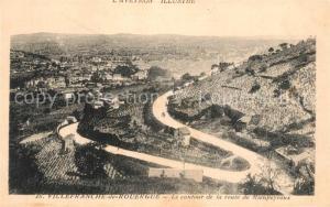 AK / Ansichtskarte Villefranche de Rouergue Le contour de la Route de Rieupeyroux Villefranche de Rouergue