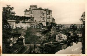 AK / Ansichtskarte Bourdeilles Vue des Terrasses La Dronne au pied des remparts du Chateau Bourdeilles