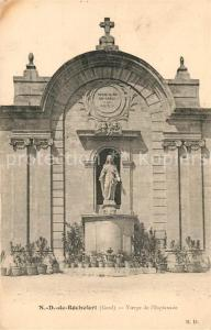 AK / Ansichtskarte Rochefort du Gard Notre Dame de Rochefort Vierge de l Esplanade Rochefort du Gard