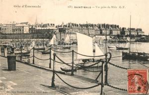 AK / Ansichtskarte Saint Malo_Ille et Vilaine_Bretagne Vue prise du Mole Saint Malo_Ille et Vilaine