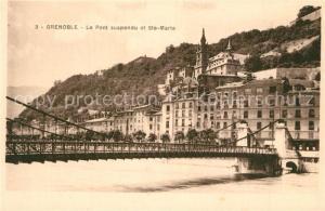 AK / Ansichtskarte Grenoble Le Pont suspendu et Ste Marie Grenoble