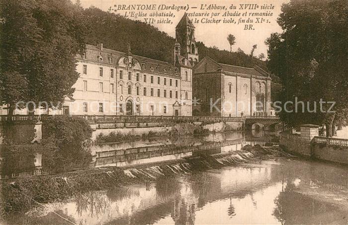 AK / Ansichtskarte Brantome Abbaye Eglise abbatiale Brantome 0