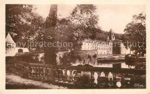 AK / Ansichtskarte Brantome La Dionne et l'Abbaye vues du Jardin Public Brantome