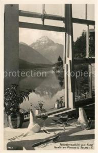 AK / Ansichtskarte Reutte_Tirol Terrassenblick vom Hotel Forelle am Plansee Reutte Tirol