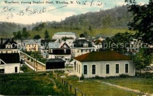 AK / Ansichtskarte Wheeling_West_Virginia Woodlawn showing Stratford Hotel
