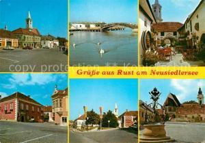 AK / Ansichtskarte Rust_Burgenland Seebad am Neusiedlersee Ortspartien Rust_Burgenland
