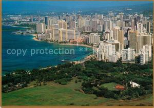 AK / Ansichtskarte Waikiki from Diamond Head