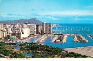 AK / Ansichtskarte Waikiki and Diamond Head