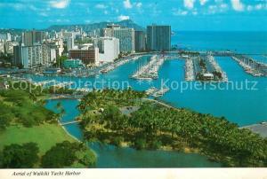 AK / Ansichtskarte Hawaii_US State Aerial view of Waikiki Yacht Harbour