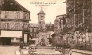 AK / Ansichtskarte Villeneuve sur Yonne Fontaine Briard Villeneuve sur Yonne