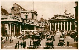 AK / Ansichtskarte London Bank of England and Royal Exchange Traffic Valentines Postcard London