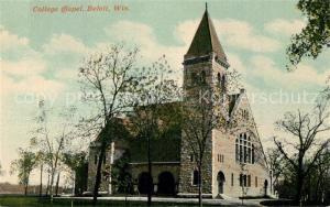 AK / Ansichtskarte Beloit_Wisconsin College Chapel
