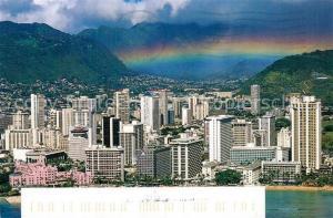 AK / Ansichtskarte Hawaii_US State Aerial view Waikiki Beach Hotels include The Royal Hawaiian