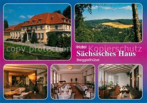 AK / Ansichtskarte Berggiesshuebel Hotel Saechsisches Haus Gastraeume Speisesaal Panorama Berggiesshuebel