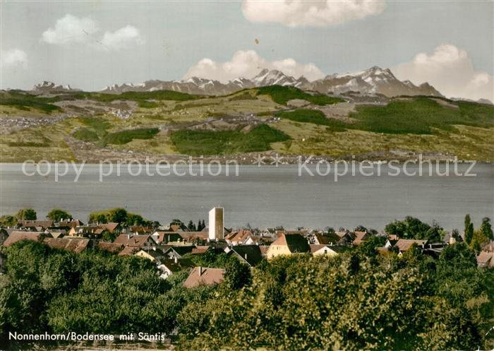 AK / Ansichtskarte Nonnenhorn Bodensee mit Saentis Nonnenhorn 0