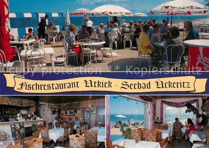 AK / Ansichtskarte ueckeritz_Usedom Fischrestaurant Utkiek Terrasse Gastraeume ueckeritz Usedom 0