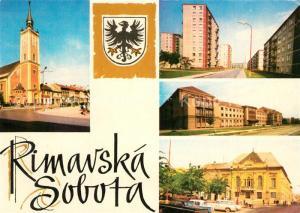 AK / Ansichtskarte Rimavska_Sobota Rim kat kostel Budova ONV Hotel Tatra Rimavska Sobota