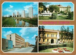 AK / Ansichtskarte Rimavska_Sobota Nova casi mesta Budova ONV Bodova OV KSS Gemerske muzeum Rimavska Sobota