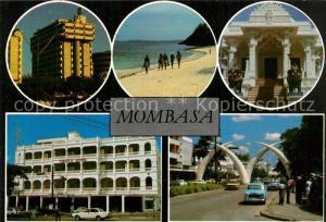 AK / Ansichtskarte Mombasa Strand Strassenpartie Gebaeude Mombasa