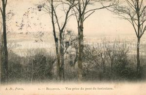 AK / Ansichtskarte Bellevue_Meudon Vue prise du pont du funiculaire Bellevue_Meudon