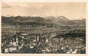 AK / Ansichtskarte Altstaetten_SG Gesamtansicht mit Alpenpanorama Altstaetten_SG