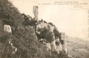 AK / Ansichtskarte Poligny_Jura Pierre qui Vire Route de Plasne  Poligny Jura