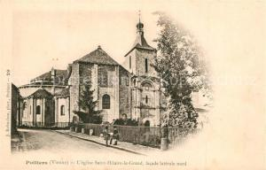 AK / Ansichtskarte Poitiers_Vienne Eglise Saint Hilaire le Grand facade laterale nord Poitiers Vienne