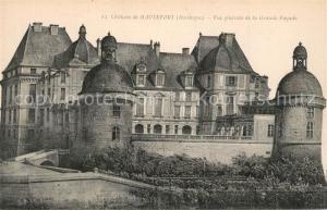 AK / Ansichtskarte Hautefort Chateau de Hautefort Vue generale de la Grande Facade Hautefort