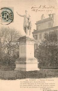 AK / Ansichtskarte Nimes Statue d Antonin Nimes
