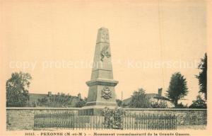 AK / Ansichtskarte Pexonne Monument commemoratif de la Grande Guerre Pexonne