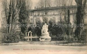 AK / Ansichtskarte Nimes Square de la Couronne Nimes