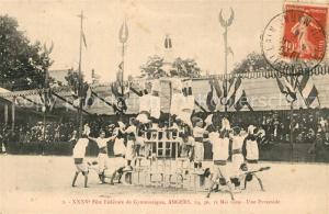 AK / Ansichtskarte Angers XXXV Fete Federale de Gymnastique une Pyramide Angers