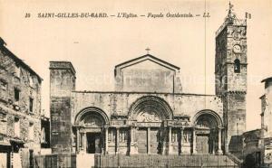 AK / Ansichtskarte Saint Gilles_Gard Eglise Facade Occidentale Saint Gilles_Gard