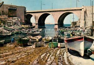 AK / Ansichtskarte Marseille_Bouches du Rhone La corniche le vallon des Auffes Marseille