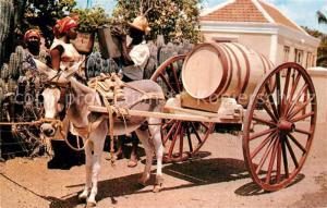 AK / Ansichtskarte Curacao_Niederlaendische_Antillen Water Vendor Wasserverkaeufer Eselkarren Lasttier Curacao_Niederlaendische