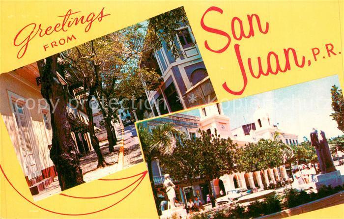 AK / Ansichtskarte San_Juan_Puerto_Rico Quaint and Narrow Street in Old San Juan San_Juan_Puerto_Rico 0