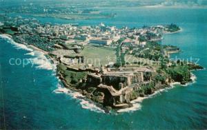 AK / Ansichtskarte San_Juan_Puerto_Rico Air view of Morro Castle San_Juan_Puerto_Rico