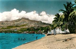 AK / Ansichtskarte Saint_Pierre_Martinique Beach Mountains Saint_Pierre_Martinique