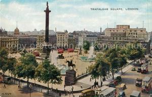 AK / Ansichtskarte London Trafalgar Square Monument Nelson Column London