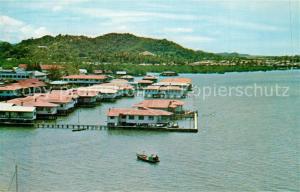 AK / Ansichtskarte Jesselton_Sabah Sea Side House no Stilts Jesselton Sabah