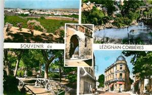 AK / Ansichtskarte Lezignan Corbieres Vue generale Jardin Public Portail de l Eglise Cours de la Republique Lezignan Corbieres