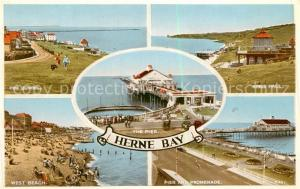 AK / Ansichtskarte Herne_Bay The Downs Kings Hall West Beach Pier and Promenade Herne_Bay