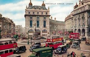 AK / Ansichtskarte London Piccadilly Circus Traffic Doppeldeckerbus Valentine s Postcard London