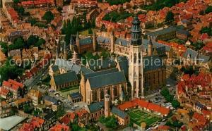 AK / Ansichtskarte Middelburg_Zeeland Zentrum Altstadt Kirche Fliegeraufnahme Middelburg_Zeeland