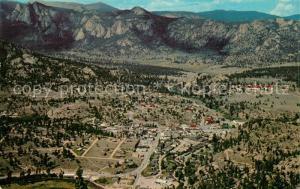 AK / Ansichtskarte Estes_Park View of the village from aerial tramway Rocky Mountain National Park Estes_Park